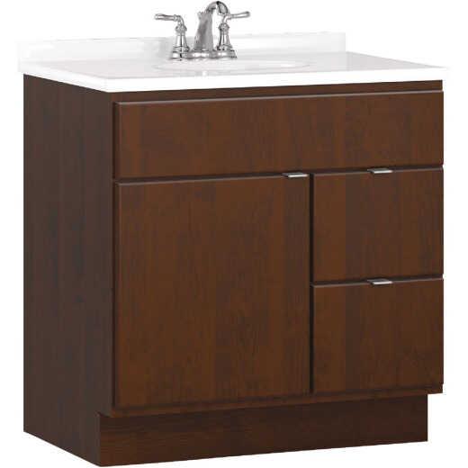 Bertch Riverside 30 In. W x 34-1/2 In. H x 21 In. D Brindle Vanity Base, 2 Door/2 Drawer