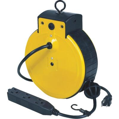 Alert Stamping 25 Ft. 16/3 Triple Tap Retractable Extension Cord Reel