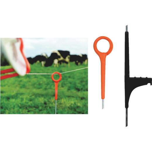 Gallagher Ring Top 33 In. Orange Electric Fence Nylon Post