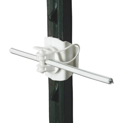 Gallagher Clip-On White UV-Resistant Plastic Electric Fence Insulator (20-Pack)