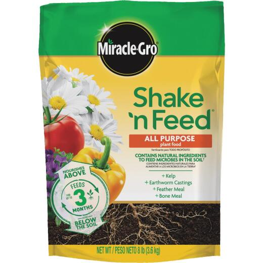 Miracle-Gro Shake N' Feed 8 Lb. 12-4-8 All-Purpose Dry Plant Food