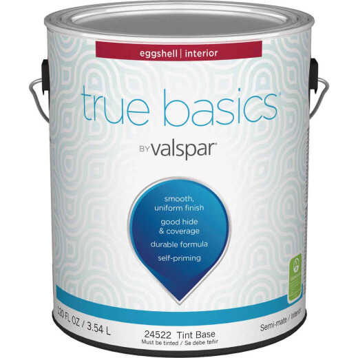 True Basics by Valspar Eggshell Interior Wall Paint, 1 Gal., Tint Base